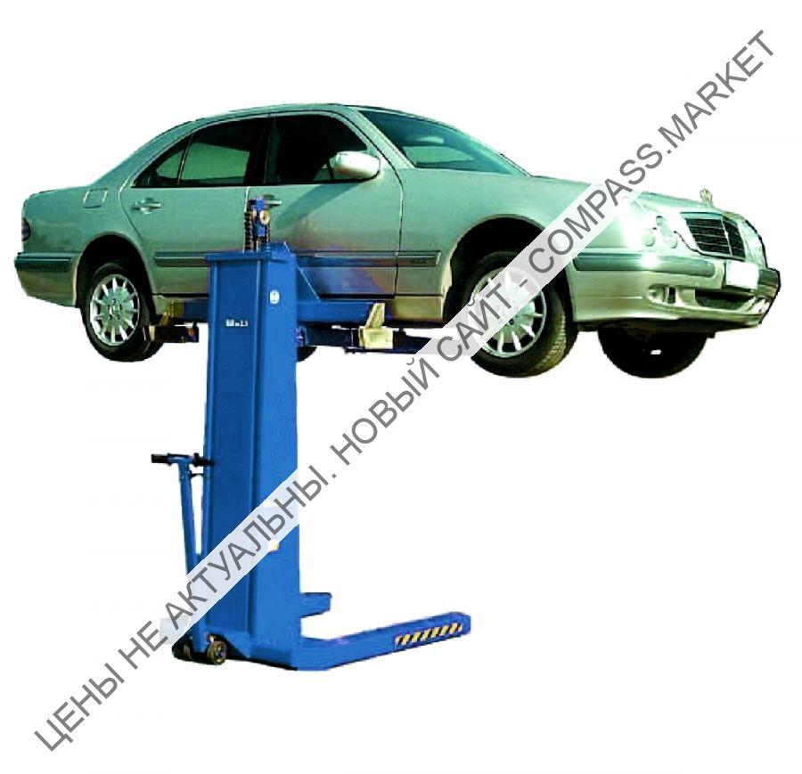 Подъемник одностоечный электромеханический, мобильный, г/п 2500 кг, Werther-OMA (Италия)